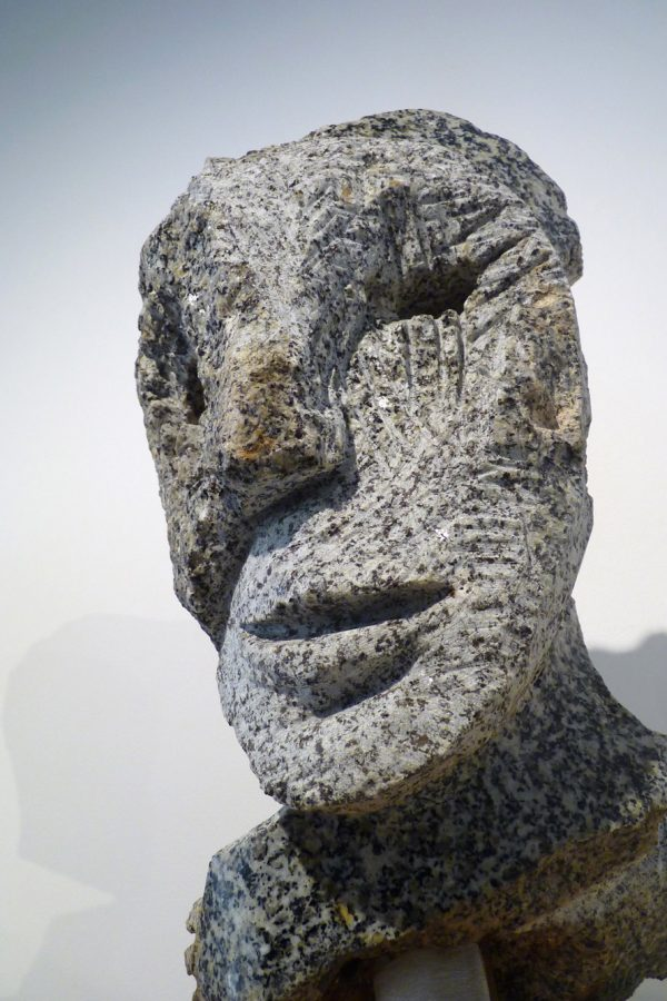 "Jean-Yves GOSTI - ""Petit Janus"" - 2016 - Granit de Bretagne - 36 x 18,5 x 17 cm"