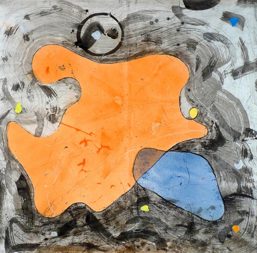 Christophe Tissot 2014 Série Ensemble - Encres, craies, tempera sur papier d'extrême orient 1,86 x 1,90 m