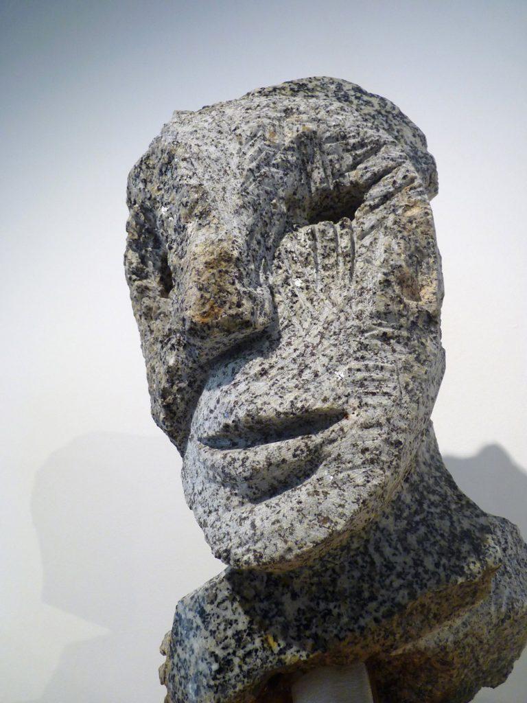 "Jean-Yves GOSTI - ""Petit Janus"" - 2016 – Breton granite - 36 x 18.5 x 17 cm"