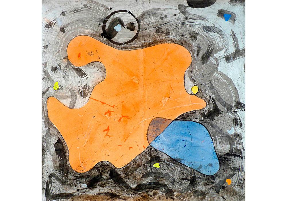 Christophe Tissot 2014 - Série Ensemble - Encres, craies, tempera sur papier d'extrême orient 1,86 x 1,90 m